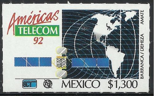 1992 américas telecom mnh sc. 1723 telecomunicación mapa