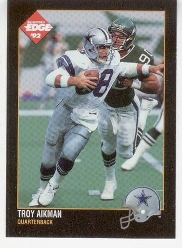 1992 collector's edge troy aikman dallas cowboys