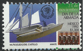 1992 Día De La Marina Armada De México Sc 1779 Mnh