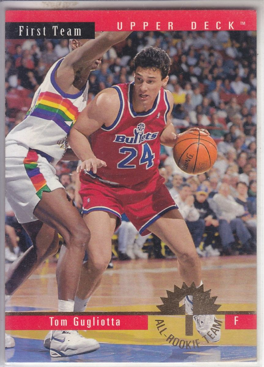 1993 94 Upper Deck All Rookie Team Tom Gugliotta Bullets $ 30 00
