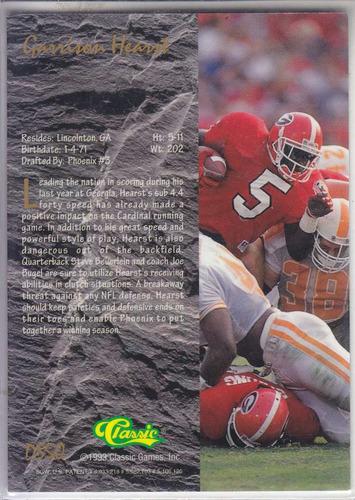 1993 classic 4 sport draft star chrome garrison hearst rb