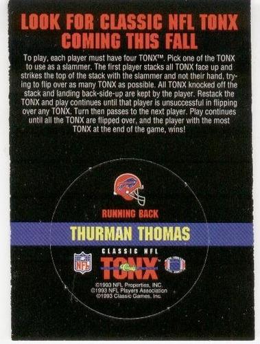1993 classic tonx thurman thomas buffalo bills