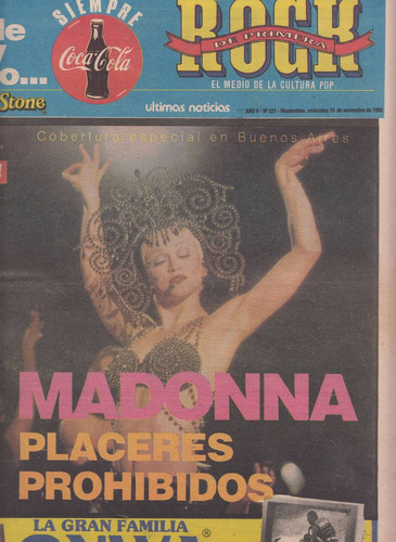 1993 madonna buenos aires only cover magazine uruguay xrare
