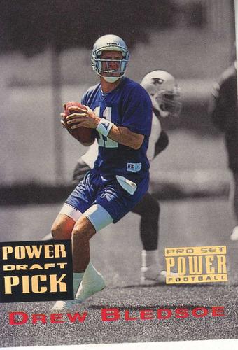 1993 pro set power gold draft pick drew bledsoe qb pats