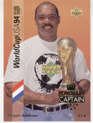 1993 upper deck honorary captain gold reggie jackson