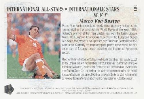 1993 upper deck marco van basten estrellas internacionales