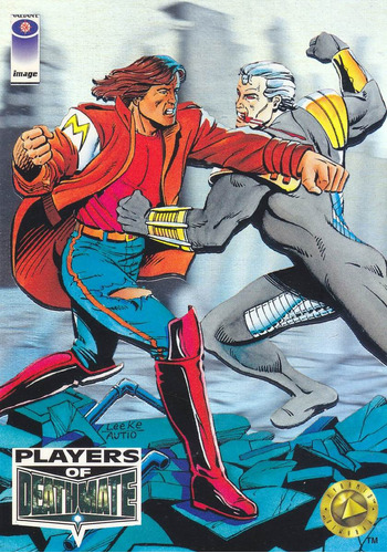 1993 upper deck valiant players of death mate fists of steel