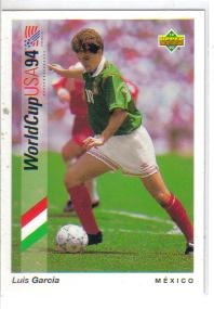 1993 upper deck world cup usa 94 #58 luis garcia