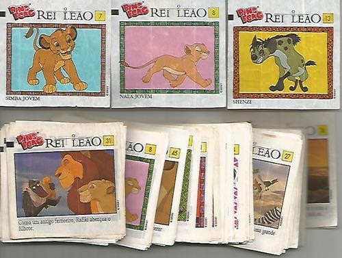 1994 - 10 figurinhas do álbum ping pong disney o rei leão