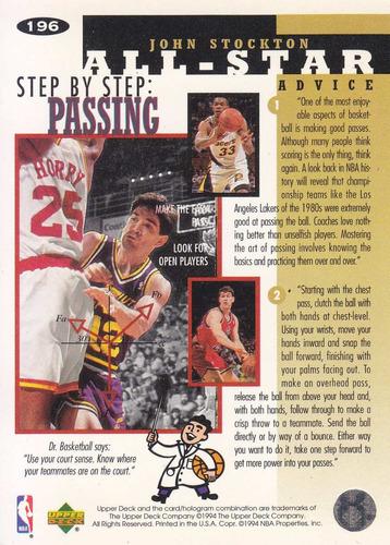 1994-95 collector's choice all star john stockton jazz