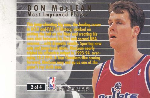 1994-95 fleer ultra award winner don maclean bullets
