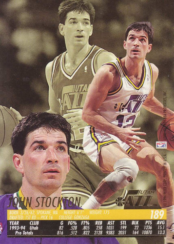 1994-95 fleer ultra john stockton jazz