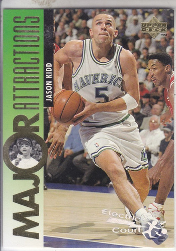 1994-95 upper deck electric court jason kidd mavs