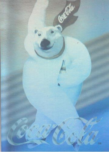 1994 coca cola holograma de oso polar
