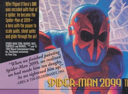1994 fleer marvel master gold signaturature spiderman 2099