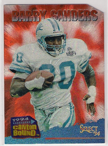 1994 select canton bound 4 barry sanders
