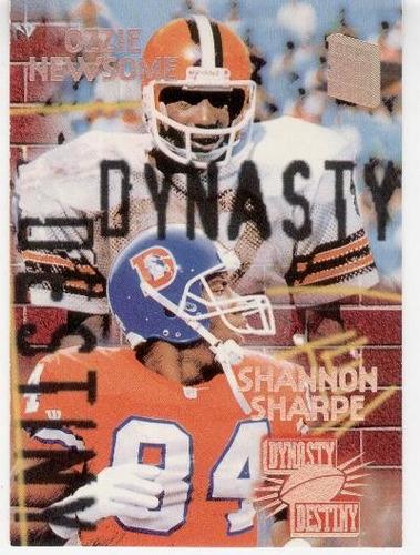 1994 stadium club dynasty and destiny newsome shannon sharpe