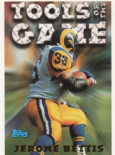 1994 topps tools of the game jerome bettis rams rb