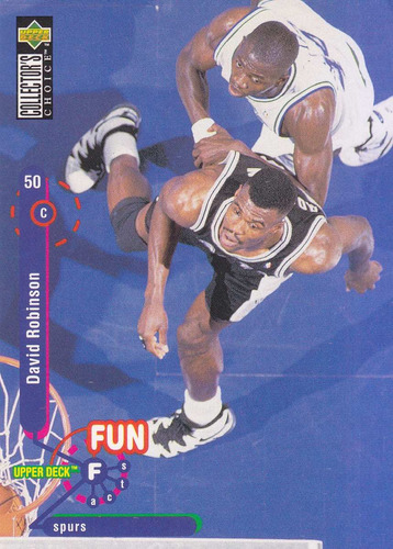 1995-96 choice fun facts david robinson spurs