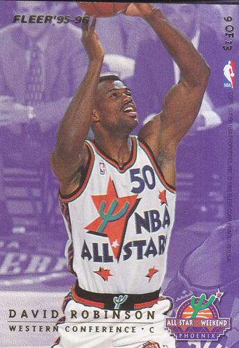 1995-96 fleer all stars patrick ewing david robinson spurs