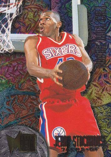 1995-96 fleer metal rookie roll call jerry stackhouse sixers