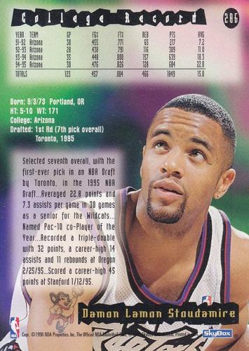1995-96 hoops rookie damon stoudamire raptors