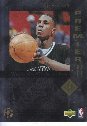 1995-96 sp premier prospects rookie kevin garnett twolves