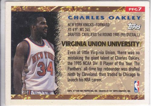 1995-96 topps pan for gold charles oakley knicks