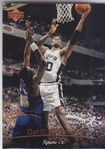 1995-96 upper deck electric court david robinson spurs