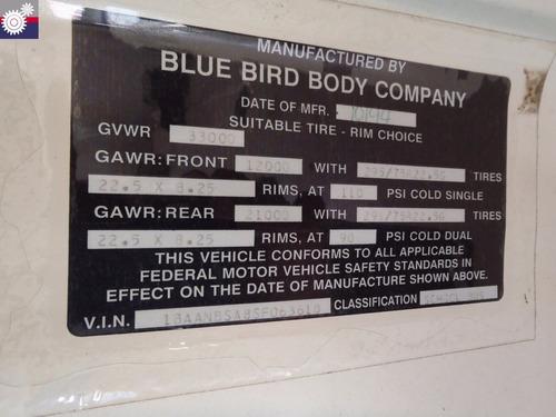 1995 blue bird tc2000 (gm104931)