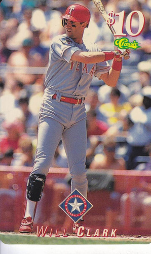 1995 classic phone card 10 will clark rangers