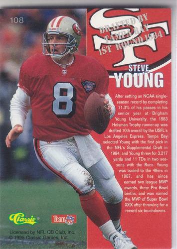 1995 classic steve young qb 49ers