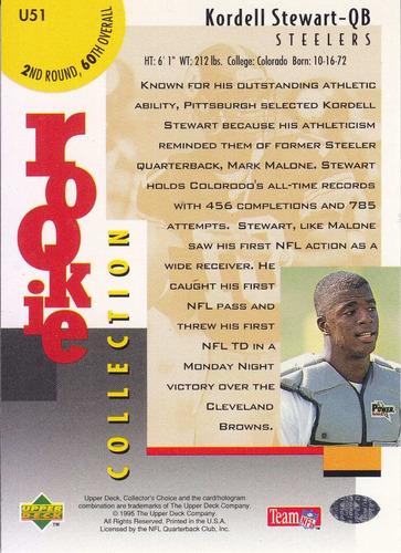 1995 collector choice update rookie gold kordell stewart qb