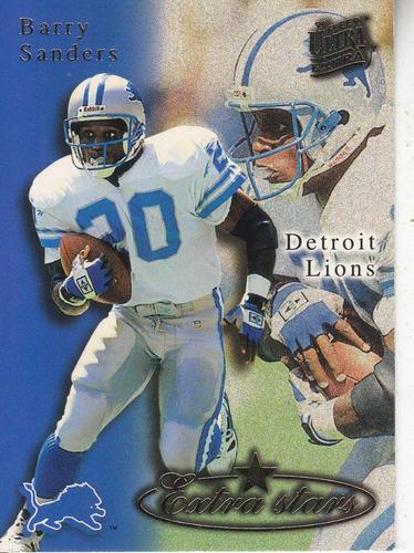 1995 fleer ultra extra stars barry sanders rb lions