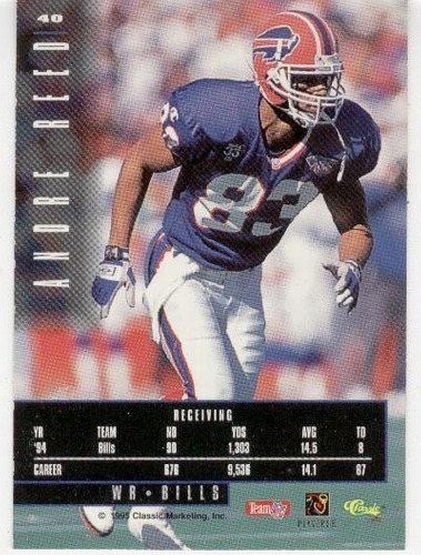 1995 images limited andre reed buffalo bills wr