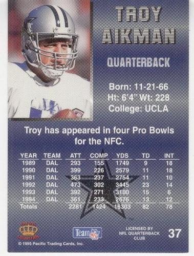 1995 pacific troy aikman dallas cowboys