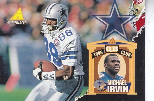 1995 pinnacle michael irvin wr cowboys