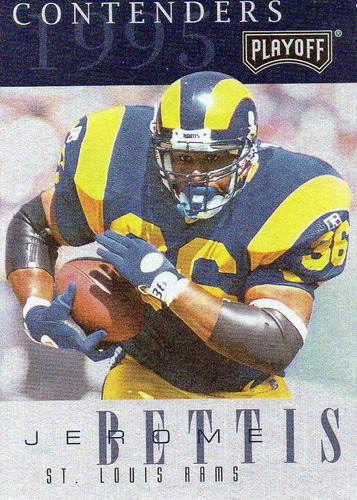1995 playoff contenders jerome bettis saint louis rams rb