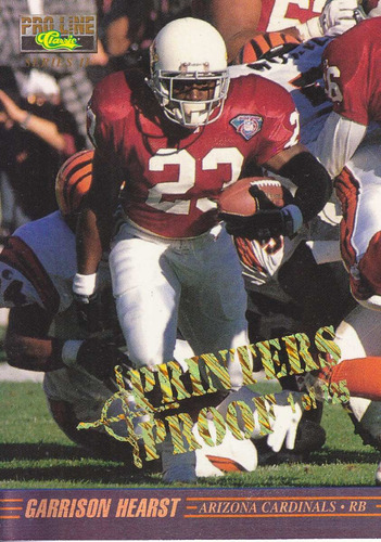 1995 pro line classic printers proof garrison hearst /725