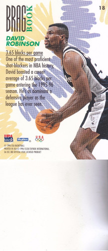 1995 skybox usa brag book david robinson spurs