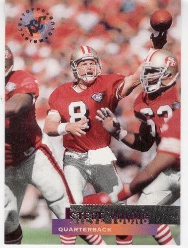 1995 stadium club steve young san francisco 49ers