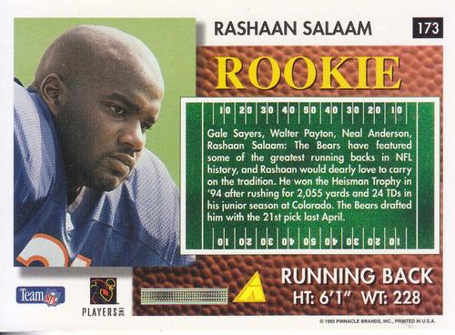 1995 summit rookie rashaan salaam rb bears