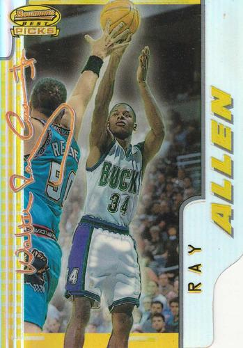 1996-97 bowman's best picks refractor ray allen bucks