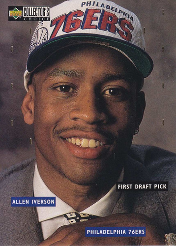 1996-97 collector's choice draft trade allen iverson sixers