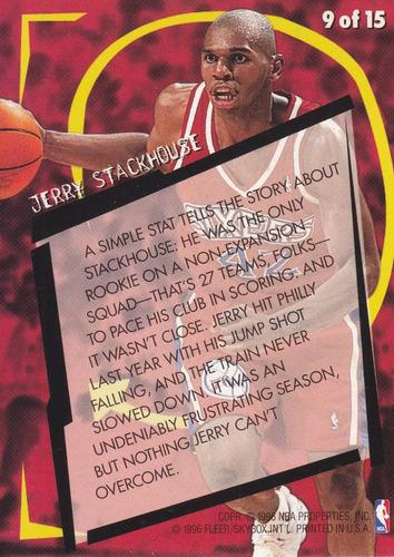 1996-97 fleer rookie rewind jerry stackhouse sixers