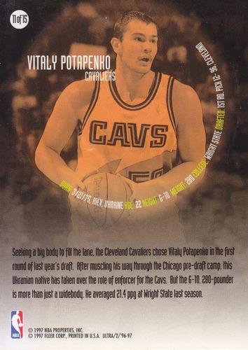 1996-97 fleer ultra all rookie vitaly potapenko cavs