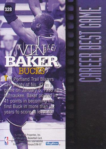 1996-97 hoops career best game vin baker bucks