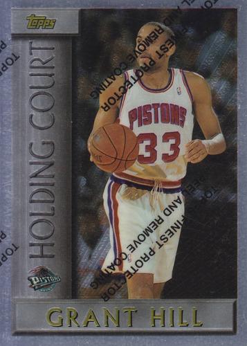 1996-97 topps holding court grant hill pistons