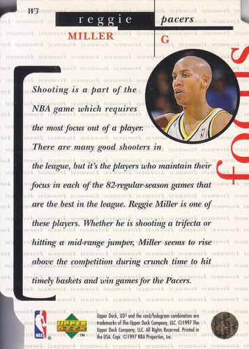 1996-97 ud3 winning edge reggie miller pacers