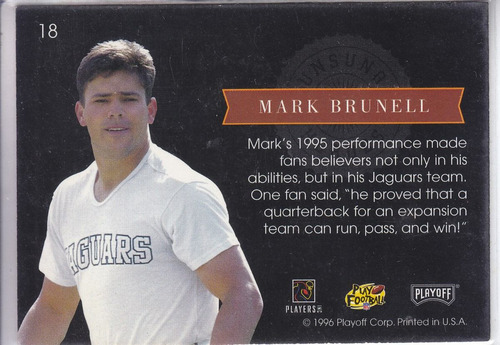 1996 absolute unsung heroes mark brunell qb jags